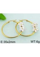 Náušnice kruhy kvetinky gold ny4766 chirurgická oceľ 89461113c44