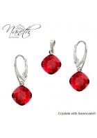 36b953693 Obrázok pre Strieborný set Naneth s červenými kryštálmi Swarovski® SQUARE  Scarlet